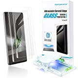QITAYO Glass Screen Protector Compatible with Galaxy S20, 2 Pack, [High-end Series] Full 3D Curved Edge Tempered Glass Compatible with UltraSonic FingerPrint Scanner for Samsung Galaxy S20 (2021)
