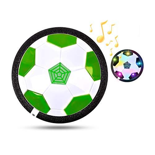 Chiatai Kids Toys Hover bola de fútbol regalo con pilas de espuma Parachoques Air Soccer Disk Sport Toy con luces LED y música verde