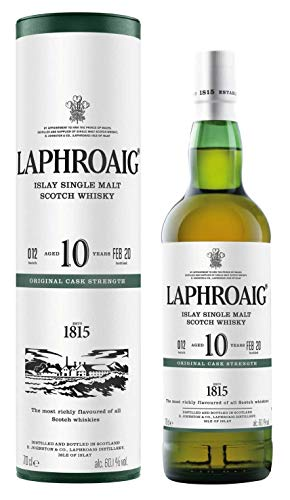 Laphroaig Whisky 10 Jahre Cask Strength 0,7l Batch 012