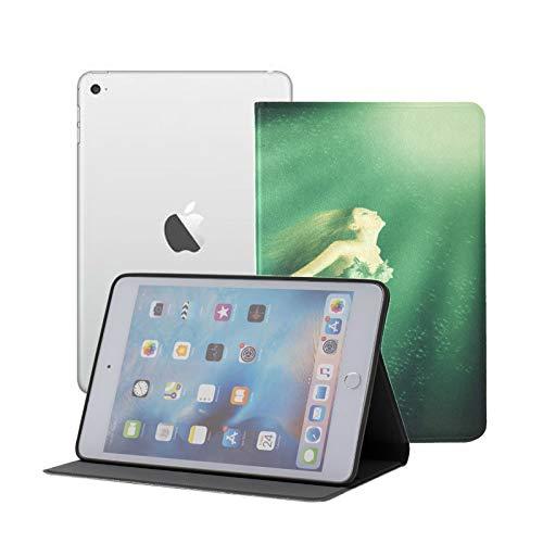 TabletMiniIpadCase Woman Mermaid with Fish Tail in The Ocean NewIpadMiniCase Ipad Mini 1/2/3 Auto Sleep/Wake with Multi-Angle Viewing for Ipad Mini 3/ Mini 2/ Mini 1