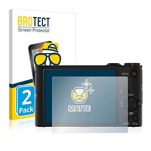 BROTECT 2X Entspiegelungs-Schutzfolie kompatibel mit Sony Cyber-Shot DSC-WX300 / WX350 Displayschutz-Folie Matt, Anti-Reflex, Anti-Fingerprint
