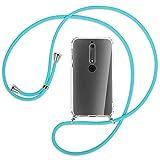 mtb more energy® Collar Smartphone para Nokia 6.1 (5.5'') - Turquesa - Funda Protectora ponible -...