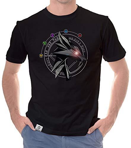 shirtdepartment - Herren T-Shirts - Mit wählbaren Gaming, Film & Serien Motiven - Tolle Nerd und Fan Designs - erhältlich von S - 5XL Wolfsschule 5XL