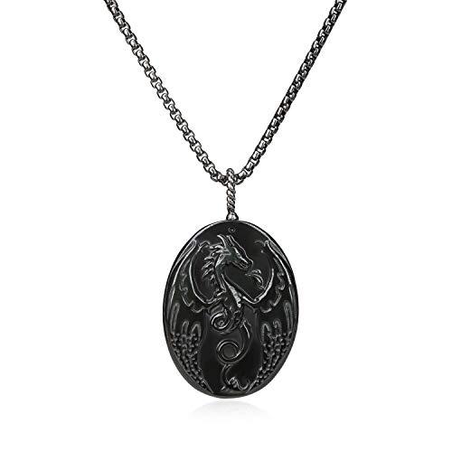 COAI Colgante Dragón de Obsidiana Negra