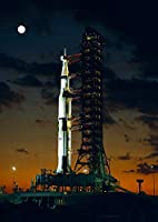 絵画風 壁紙ポスター (はがせるシール式) アポロ計画初飛行 アポロ4号 サターンV SA-501 ロケット 1967年 ケネディ宇宙センター NASA キャラクロ NAS-014A1 (A1版 585mm×830mm) 建築用壁紙+耐候性塗料