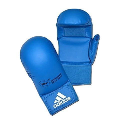adidas Handschuhe MITAINE Tiefschutz Karate-WKF Schutz Daumen–Blau, S