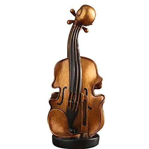 XHAEJ Caja de dinero seguro contenedor de ahorro de monedas, modelo moderno de violín hucha resina grande hucha de la moneda decorativa creativo regalo bancos de dinero alcancías