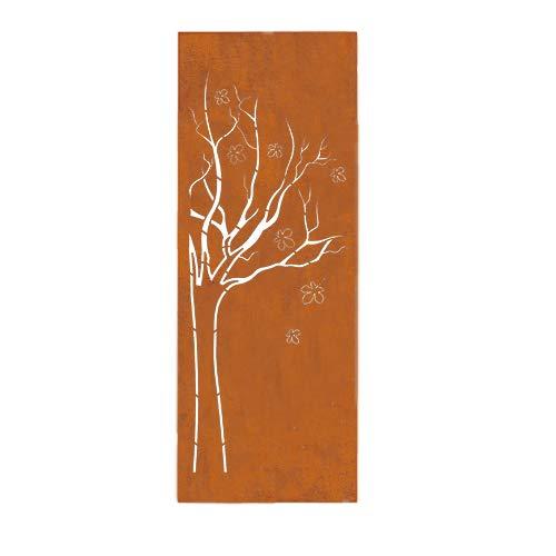 prima terra Deko- und Sichtschutzelement Edelrost Baum H=158cm B=60cm