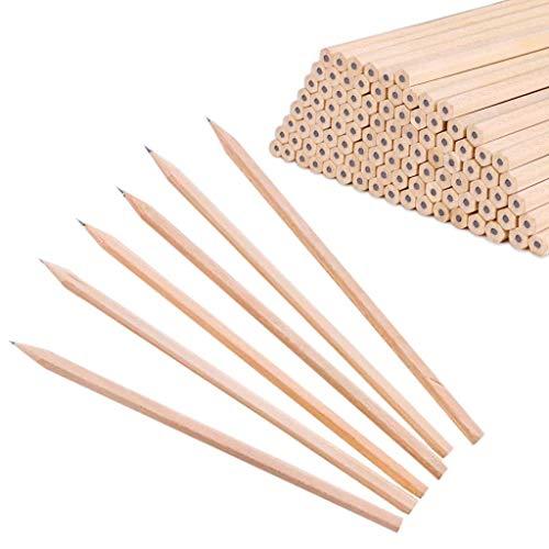 10x Milopon Holzbleistift HB natur Bleistift für Papier Büro Kinder Schule