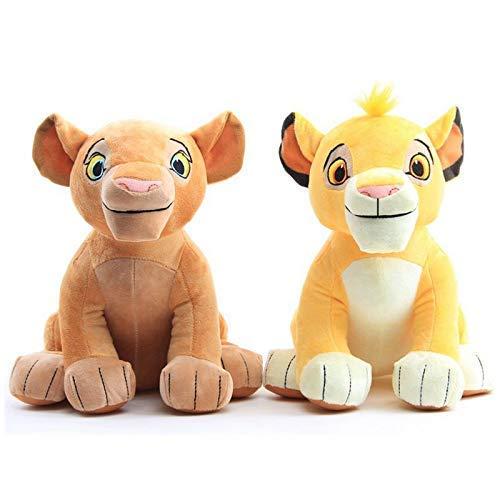GHJU OmeDecor Plüsch-Puppen 2Pcs Der König der Löwen Simba Nala Kuscheltiere Plüschtier QingQiao