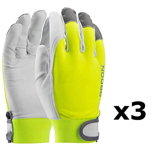 guanti da lavoro pelle Guanti da lavoro professionali REFLEX HI-VIS