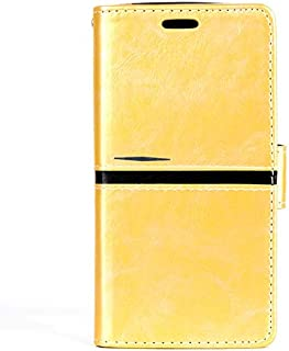 LFPING Pu Leather Book Flip Phone Bag for Moto G5 Plus,Magnetic Closure Cash Slot Case Cover for Moto G5 Plus (Color : Yellow)