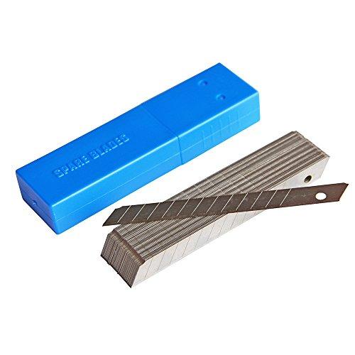 Ehdis 9mm Snap-Off-standaard Duty-Blades, carbon steel cutter reservemes, 45° scherpe messen, 50 blades/verpakking