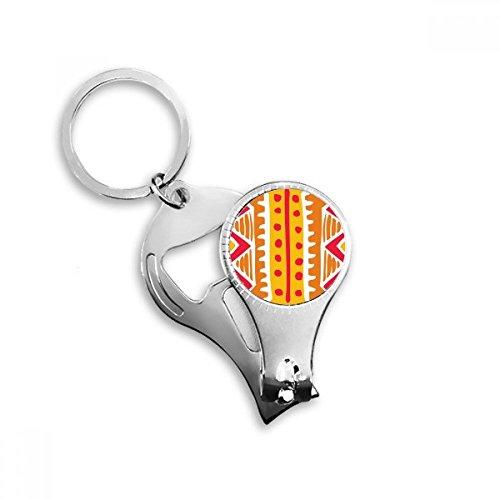 DIYthinker oranje lijn Mexico Totems oude beschaving tekenen sleutelhanger ring teen nagel Clipper Cutter schaar gereedschap kit fles opener cadeau