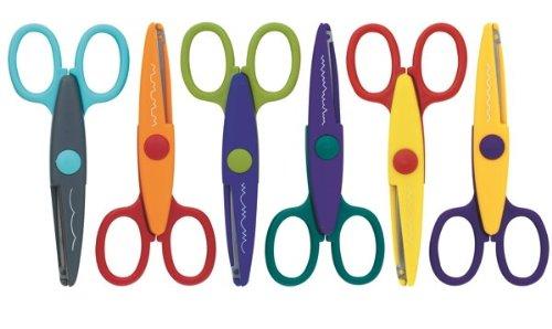6 Bastelscheren Schere verschiedene Schnittmuster