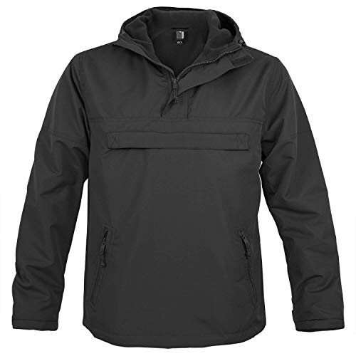 BW-ONLINE-SHOP Hooded Windbreaker mit Fleecefutter schwarz - 5XL