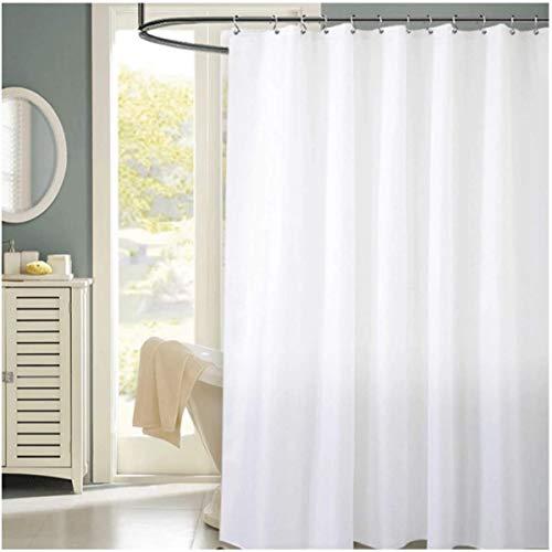 reinweiß Duschvorhang Größe 180cm × 200cm Home Hotel Wasserdicht & schimmelresistent Maschinenwaschbar