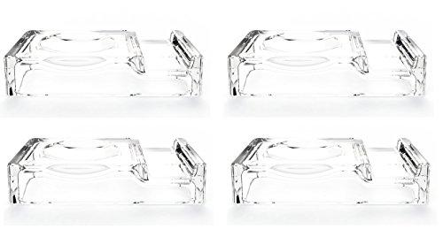 BMTick Poggia bacchette di vetro 'classico giapponese' con poggia cucchiaio (4 supporti)