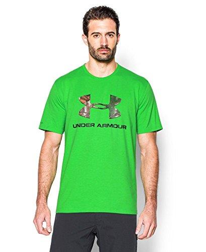Under Armour Men's Camo Fill Logo T-Shirt, Green Energy (300)/Black, X-Large