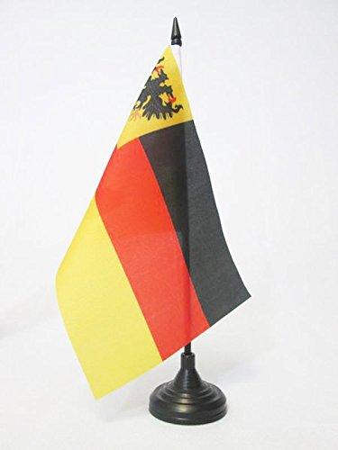 AZ FLAG TISCHFLAGGE Deutschland ALT 1848-1852 21x14cm - DEUTSCHE TISCHFAHNE 14 x 21 cm - flaggen