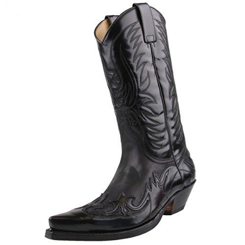 Sendra Westernstiefel 3241 schwarz florentic, Schuhgröße:EUR 43