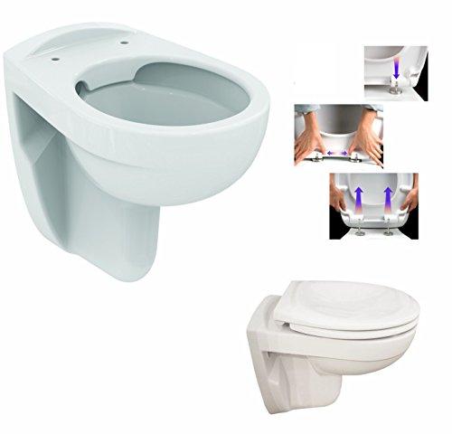 Ideal Standard Eurovit Wand Tiefspül WC, Spülrandlos mit LotusClean Beschichtung, ohne Spülrand mit Deckel