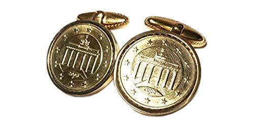 worldcoincufflinks alemán 10% Oro Gemelos