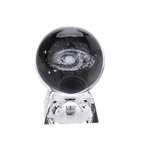 BigFamily Bola de Cristal de Quartzo com Sistema Solar