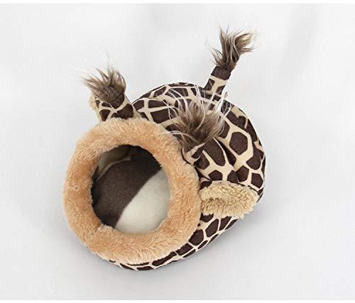 Renquen Cama para hámster de felpa suave para mascotas con almohadilla extraíble para hámster, erizo, cobaya, bebé y gato