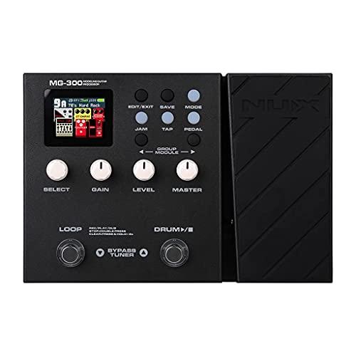 FENXIXI MG-300 Modeling Guitar Processor Guitar Multi-Effects Pedal Amp Modeling 56 Drum Beats 60s 24-bit Loop Recording Metronome