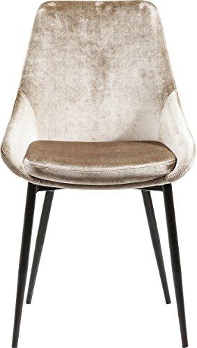 Kare Design Stuhl East Side, Polsterstuhl in Samtstoff, Esszimmerstuhl, edler Designstuhl, einzeln, Beige, champagner, luxuriöser Stuhl, (HxBxT) 83x48x57cm