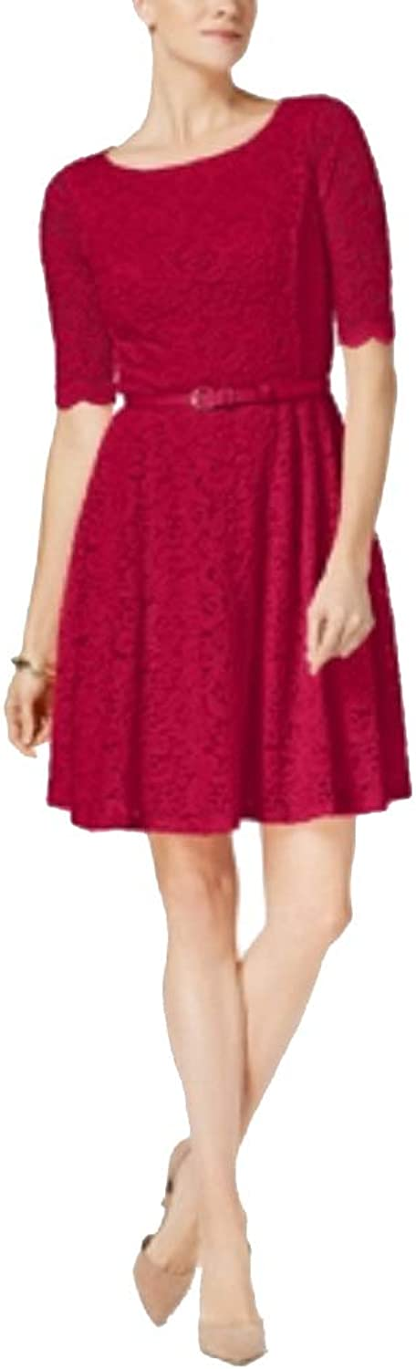 Charter Club Petite Belted Lace Dress