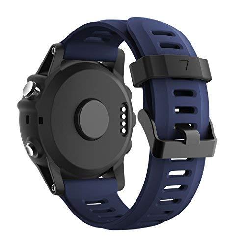 Supore Fenix 3 Correa de Reloj, Reemplazo Respirable Suave del Silicón Pulsera Hermosa Deporte y edición para Fenix 3/Fenix 3 HR/Fenix 5X /Fenix 6X Smartwatches
