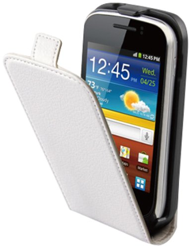 Muvit MUSLI0248 - Funda slim + protector de pantalla para Samsung Galaxy Mini 2 S6500, blanco