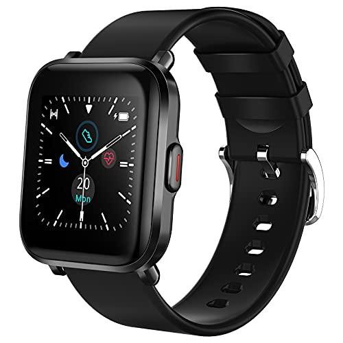 Holabuy Smartwatch,Reloj Inteligente con Pulsómetro,Monitor de Sueño,Calorías,18 Modos Reloj Deportivo,Pulsera Actividad Impermeable IP68 para Mujer Hombre Niños para Android iOS
