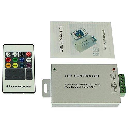 RGB LED RF Controller Wireless + 20Key Remote Control 144W 12V / 288W 24V - 12A