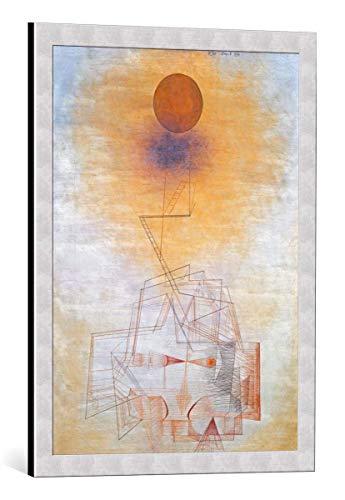 kunst für alle Bild mit Bilder-Rahmen: Paul Klee Grenzen des Verstandes - dekorativer Kunstdruck, hochwertig gerahmt, 50x70 cm, Silber gebürstet
