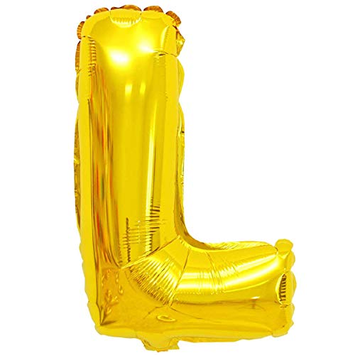 XXL LUFTBALLONS Folien-Ballons Heliumballons Buchstaben & Zahlen & Zeichen - 80CM GROßE Party-Dekoration XL für Geburtsag Hochzeit Feier - L in Gold