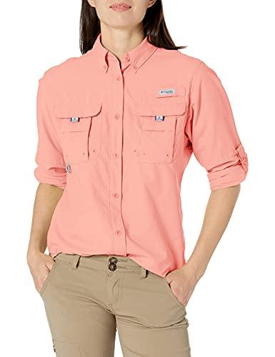 Columbia Women's PFG Bahama Long Sleeve — Plus Size , Tiki Pink, 3X