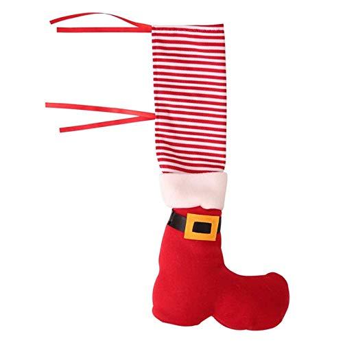 JIAHU Calcetines de Navidad para patas de silla de Papá Noel, protector de botas de payaso, 1 unidad