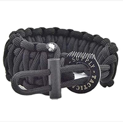 Paracord Bracelet with Fire Starter - Tactical Survival Muti-Tool Bracelets Include Parachute Cord, Magnesium Fire Rod, Striker by a USA Company