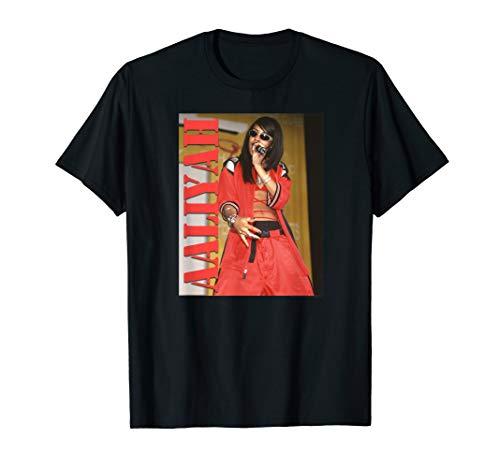 Aaliyah Stencil Logo T-Shirt