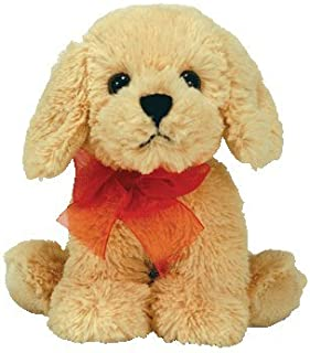 TY Beanie Babies Pudding  - Gold Dog