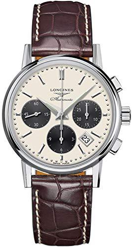 Longines Heritage Column-Wheel L2.733.4.02.2 Reloj cronógrafo para Hombre