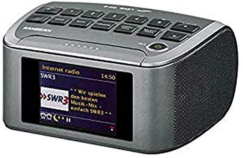 Sangean RCR-11 WF Digitales Uhrenradio (Internet-Radio, DAB+, Spotify-Player, UKW-RDS, USB) schwarz