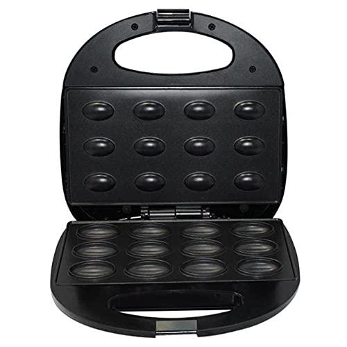 Gospodarstwo domowe elektryczne ciasto z orzecha włoskiego maszyna śniadaniowa do kanapek kanapka żelazna toster do pieczenia śniadanie pan piekarnik wtyczka brytyjska (Color : Black)