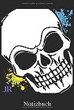 Notizbuch - Totenkopf Rock Skull: Totenkopf Heavy Metal Notizheft, Schreibheft, Tagebuch (Taschenbuch ca. DIN A 5 Format Liniert) von JOHN ROMEO