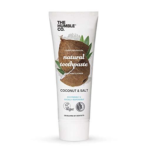 Humble Natural Toothpaste - Zahnpasta - with fluoride - mit Fluorid - Coconut & Salt - Kokosnuss & Salz - 5 x 75 ml