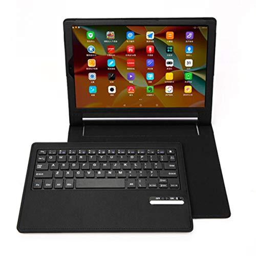Ba Zha Hei Funda inalámbrica de Cuero + Teclado Bluetooth para Lenovo Yoga 3 Pro 10 Pulgadas Teclado Bluetooth con Funda de Cuero Cubierta del Soporte Wireless Bluetooth Teclado Funda