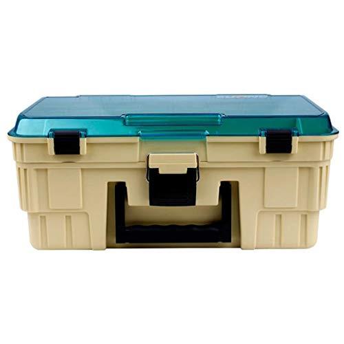 Caja de almacenamiento de aparejos multifunción Caja de Herramientas de fotogramas múltiples falso cebo pesca de la caja de engranajes Caja de accesorios de cebo atractivo portátil de piezas de la caj